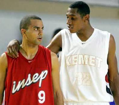 Tony Parker et Boris Diaw basket Insep saisons 1998-1999